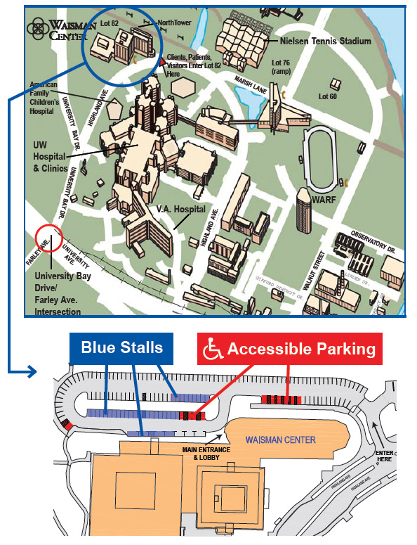 Waisman Center Parking Map